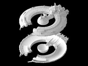 (Armada) Lucrehulk Droid Control Ship TWO PARTS in White Natural Versatile Plastic