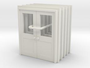 Door Type 10 - 810D X 2000 X 5 - HO Scale in White Natural Versatile Plastic: 1:64
