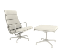 Eames Softpad Chairs - Charles & Ray Eames in White Strong & Flexible: 1:12