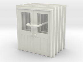 Door Type 11 - 810D X 2000 X 5 in White Natural Versatile Plastic: 1:43.5