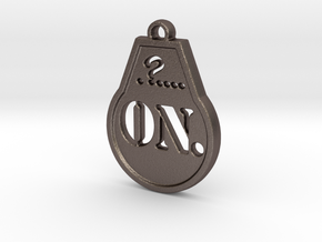 ON-6 in Polished Bronzed Silver Steel