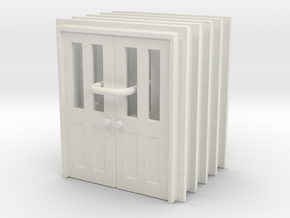 Door Type 7 - 760D X 2000 X 5 in White Natural Versatile Plastic: 1:87