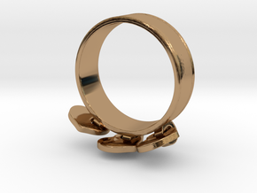 Heart Charm Ring in Polished Brass (Interlocking Parts): 5.5 / 50.25
