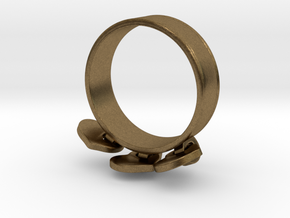 Heart Charm Ring in Natural Bronze (Interlocking Parts): 5.5 / 50.25