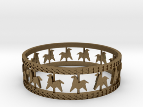 Carousel Band Bangle in Natural Bronze: Extra Small