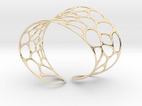 Voronoi Bracelet in 14k Gold Plated Brass