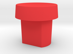 Cougar Button S1 in Red Processed Versatile Plastic