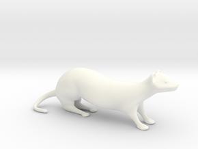 Weasel XL Desktoy in White Processed Versatile Plastic