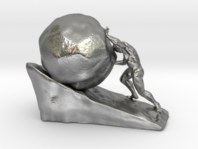Sysiphus in Natural Silver