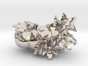 Fairytale Pumpkin Vine Studs in Rhodium Plated Brass