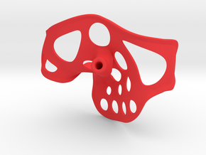 """Stingray right 3.6"""" width .25"""" shaft in Red Processed Versatile Plastic"""