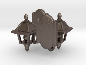 Lamp Sconce Studs in Polished Bronzed Silver Steel