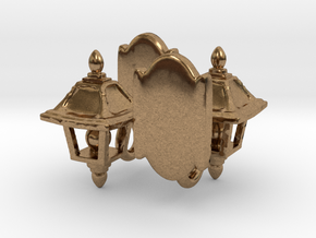 Lamp Sconce Studs in Natural Brass