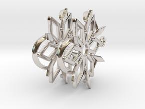 Dancing Shards Earrings in Platinum