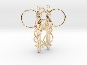 Royal Aura Sword Earrings in 14k Gold Plated Brass