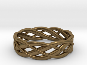 ring Double Braid in Natural Bronze: 6.5 / 52.75