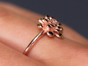 The Chrysanthemum in 14k Rose Gold Plated Brass: 9 / 59