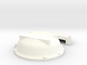 1/12 Buick Nailhead Bellhousing For Muncie Trans in White Processed Versatile Plastic