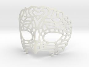Venetian Mask in White Strong & Flexible