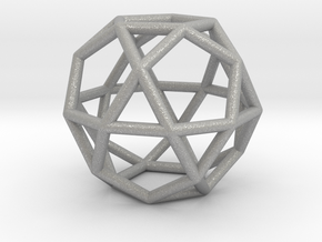 0276 Icosidodecahedron E (a=1cm) #001 in Aluminum