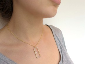 Mass Spectrum Pendant - Science Jewelry in Polished Brass