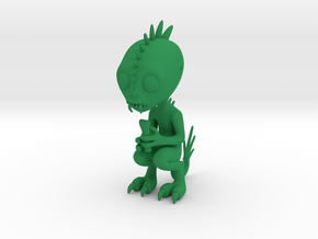 Chupacabra Figure in Green Processed Versatile Plastic