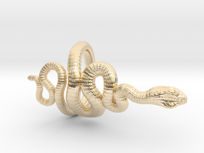 Snake Roll Stopper M 14 mm in 14k Gold Plated
