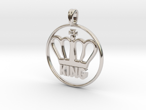 KING Crown Symbol Jewelry necklace in Platinum