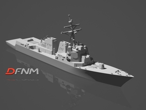 Arleigh Burke IIA (DDG-107 - DDG-112) in White Natural Versatile Plastic: 1:700