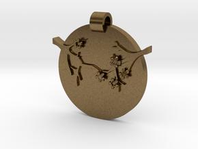 Blossom Pendant  in Natural Bronze