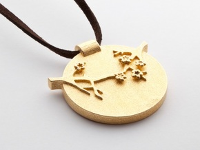 Blossom Pendant  in Matte Gold Steel