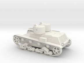 WIP Polish light tank 7TP 1938 1:48 28mm wargames in White Strong & Flexible