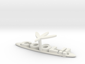 Key Hanger in White Natural Versatile Plastic: Extra Large
