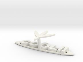 Key Hanger in White Natural Versatile Plastic: Extra Large