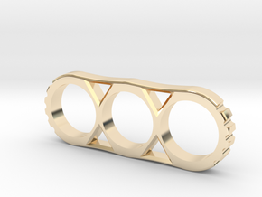Hand Spinner Project Mk.II 80mm V1 in 14K Yellow Gold