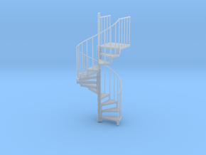 Industrial Spiral Staircase (Counter-Clockwise) in Smooth Fine Detail Plastic: 1:20