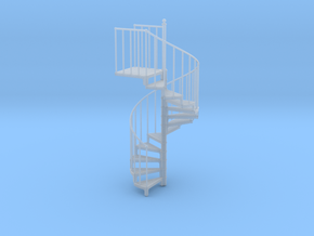 Industrial Spiral Staircase (Clockwise) in Smooth Fine Detail Plastic: 1:20