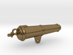 1:17 scale 32Lb Carronade -Barrel in Polished Bronze