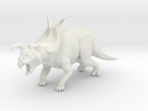 Einiosaurus (Small/Medium/Large size) in White Strong & Flexible: Large