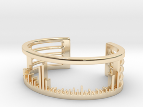 Mass Spectrum Bracelet - Science Jewelry in 14K Yellow Gold: Large