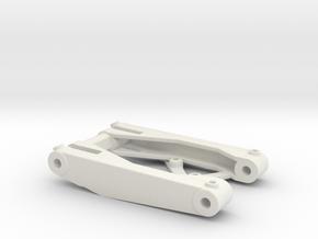 MRB 5 Vorderachsschwinge unten in White Natural Versatile Plastic