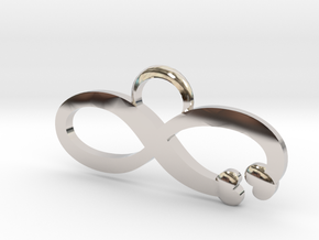 Love is Infinite in Rhodium Plated Brass: Large