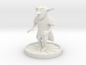 Goblin with dagger in White Natural Versatile Plastic