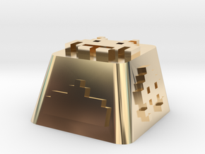 Space Invader in 14K Yellow Gold