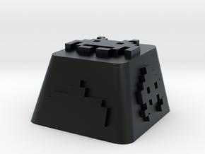Space Invader in Black Hi-Def Acrylate