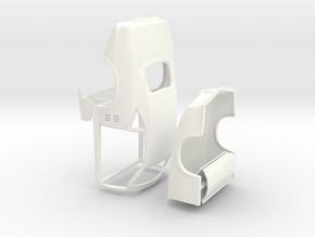 1/25 68 Firebird Pro Mod No Scoop (Detached Body) in White Processed Versatile Plastic