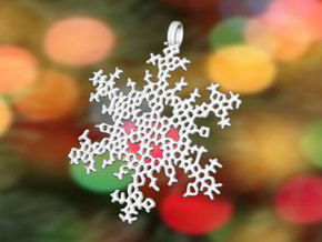 Snowflake Ornament - Radic Delicate in White Strong & Flexible Polished