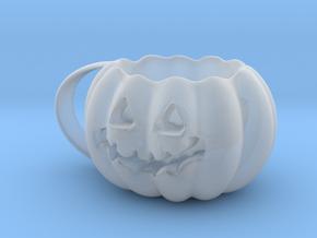 Finished Pumpkin Mug in Smooth Fine Detail Plastic