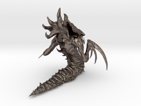 1/12 Hydralisk Monster for Diorama Scale Modeling in Polished Bronzed Silver Steel
