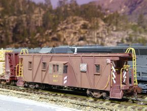 Western Pacific (WP & SN) Caboose N Scale in Smooth Fine Detail Plastic